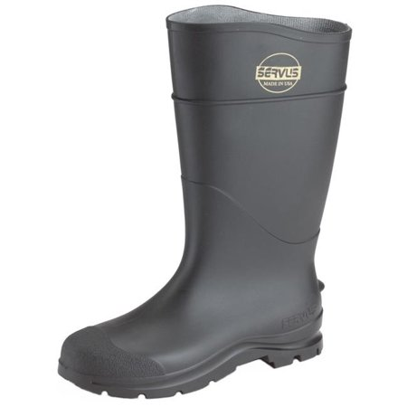 Economy Pvc Plain Toe Boot (Servus 617-18822-BLM-140 16 in. PVC Economy Knee Boots Plain Toe with Angle,)