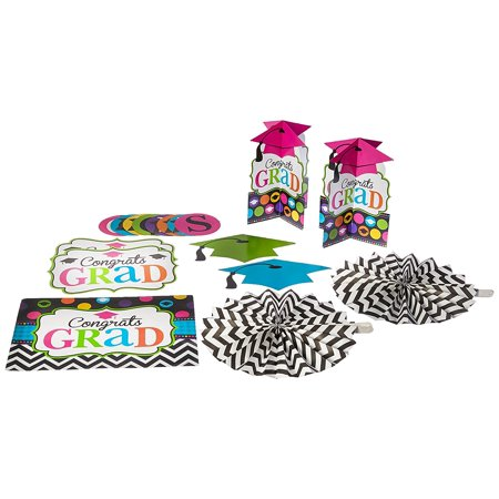 Dream Big Graduation Party Decorating Kit, Paper, Pack of 10., Features