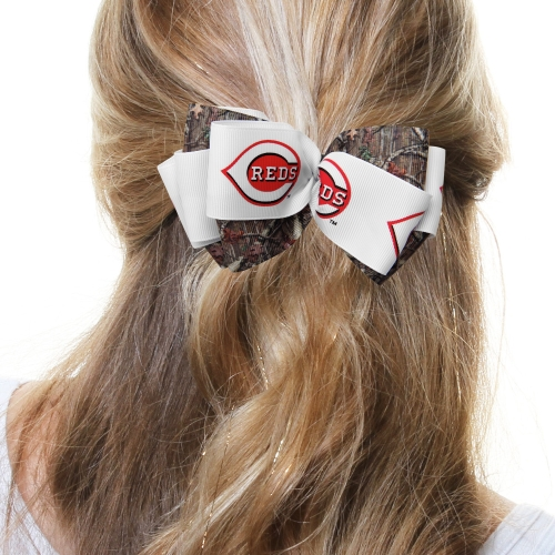 Cincinnati Reds Women's Mary Loop with Mossy Oak Hair Bow - No Size
