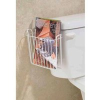 InterDesign Classico Wall Mount Magazine Holder, Pearl White