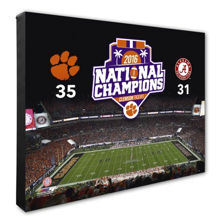 Clemson Tigers College Football Playoff 2016 National Champions Stadium Canvas - No (Best College Football Stadiums)