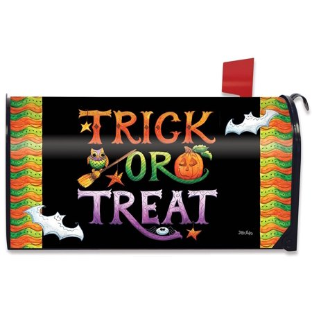 Halloween Trick or Treat Magnetic Mailbox Cover Holiday Spooky Briarwood Lane