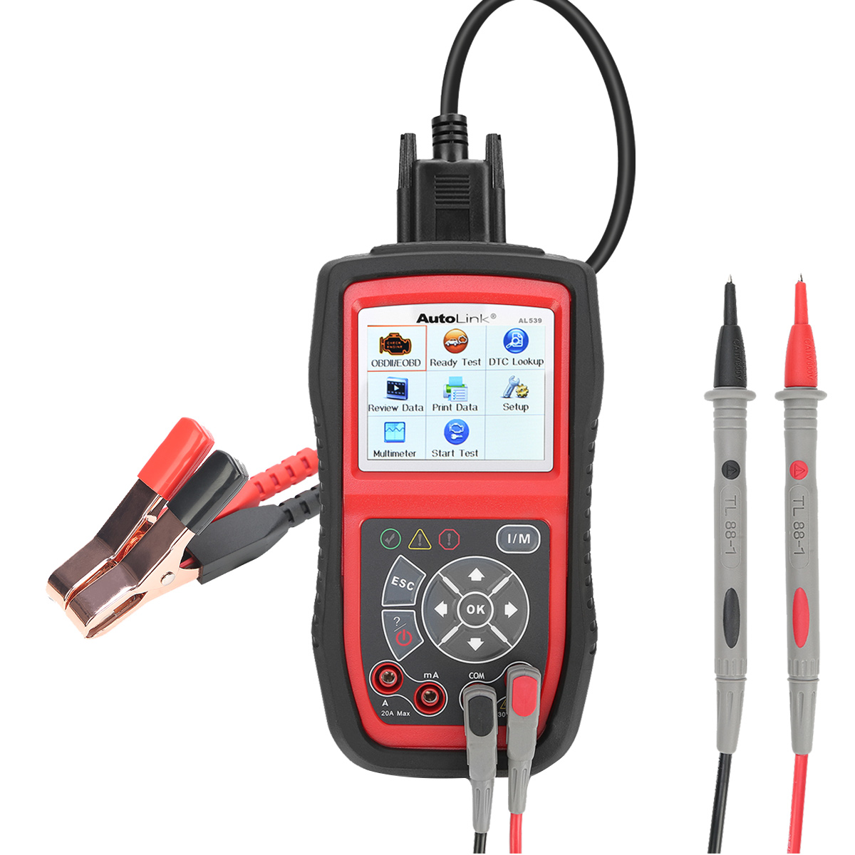 Autel AutoLink AL539B OBDII Battery Tester Automotive Code Reader Full OBD2 Functions Diagnostic Scan Tool