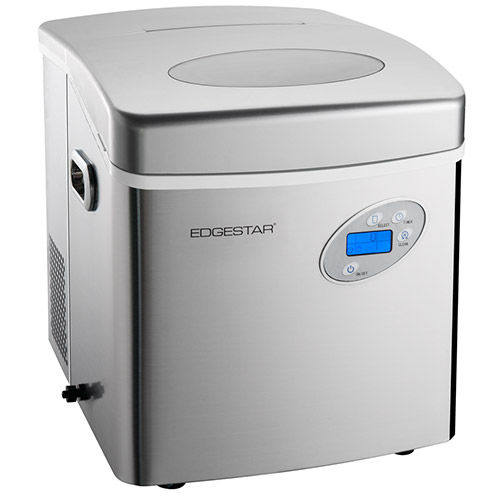 EdgeStar Large Capacity Portable Stainless Steel Ice Maker