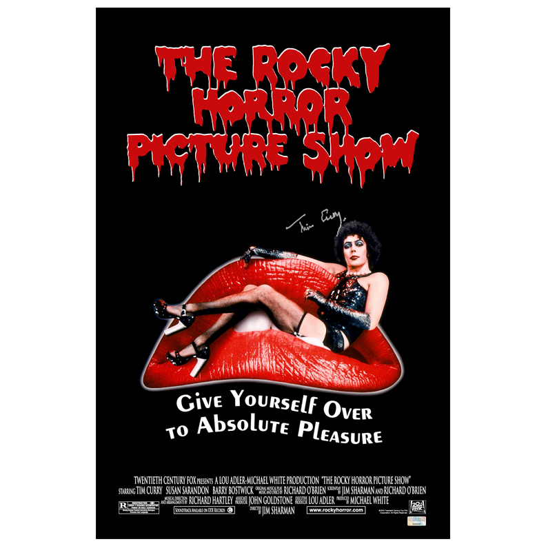 Tim Curry Autographed 16?24 The Rocky Horror Picture Show Poster