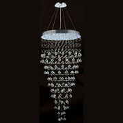 "Worldwide Lighting W83229C28 Chrome Icicle 12 Light 1 Tier 20"" Chrome Chandelier"