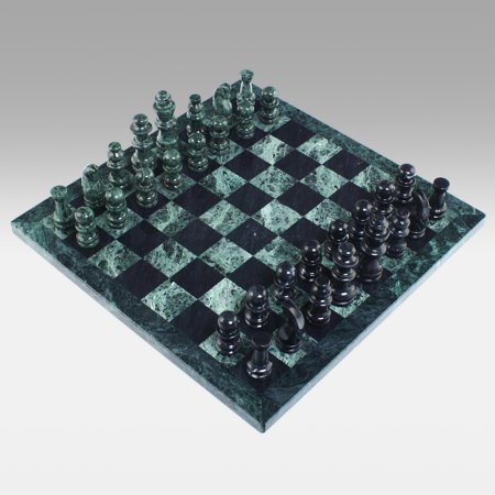 Black and Green Marble Chess Set