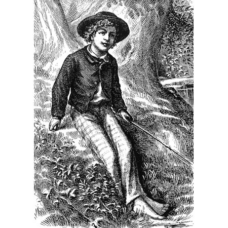 Clemens Tom Sawyer 1876 Nfrontispiece Engraving For The First Edition Of Mark TwainS The Adventures Of Tom Sawyer 1876 Rolled Canvas Art -  (24 x (The Adventures Of Tom Bombadil First Edition)