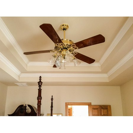 promo code f9782 ea5e7 Ceiling Fan Crown Molding Light Fixture Tray Ceiling Poster Print 24 x 36