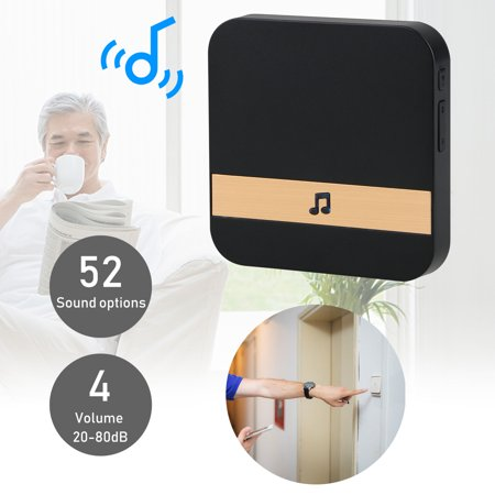 Home Indoor 52-Tunes Chime Ding dong Wireless WiFi Door Bell (Ding Dog Bells)