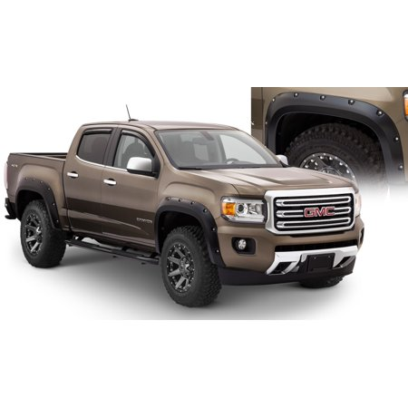 Bushwacker 15-18 GMC Canyon Pocket Style Flares 4pc 5ft Bed - Black (Bushwacker Flares)