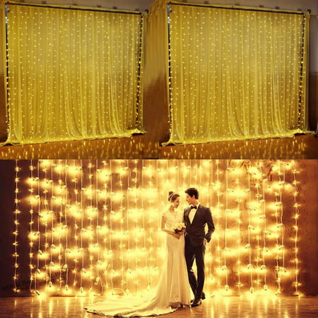 224led 9.8ft*6.6ft Curtain String Fairy Wedding Led Lights for Garden,Wedding, Party (Warm - Cheap String Lights