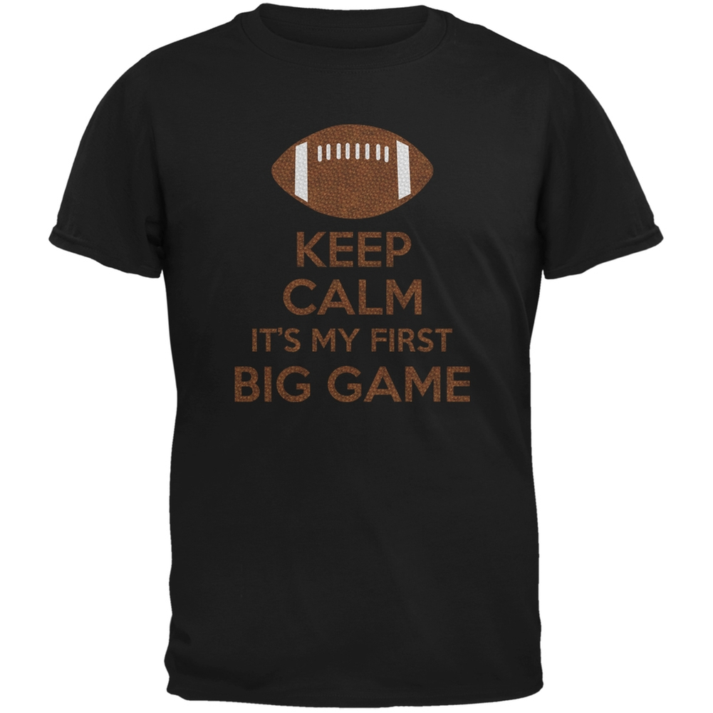 First Big Game Football Black Youth T-Shirt