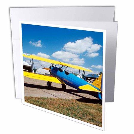 Aviation Card - 3dRose Boelng Stearman PT-17 aviation - US24 BFR0067 - Bernard Friel, Greeting Cards, 6 x 6 inches, set of 12