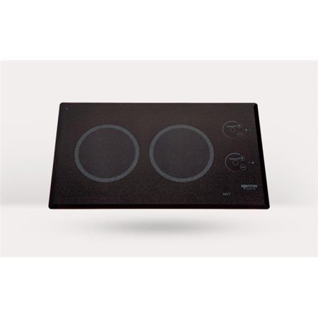 Kenyon B41579 Lite-Touch Q 2-burner Trimline Cooktop, black with touch control - two 6. 5 inch 208V UL