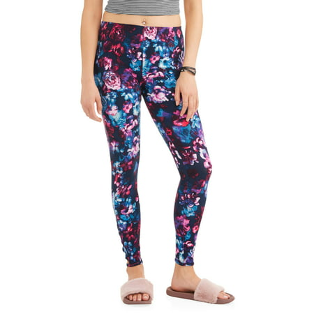 Juniors' Criss-Cross Printed Ankle Leggings