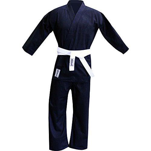 Amber Fight Gear 8oz Black Karate Uniforms Size 6