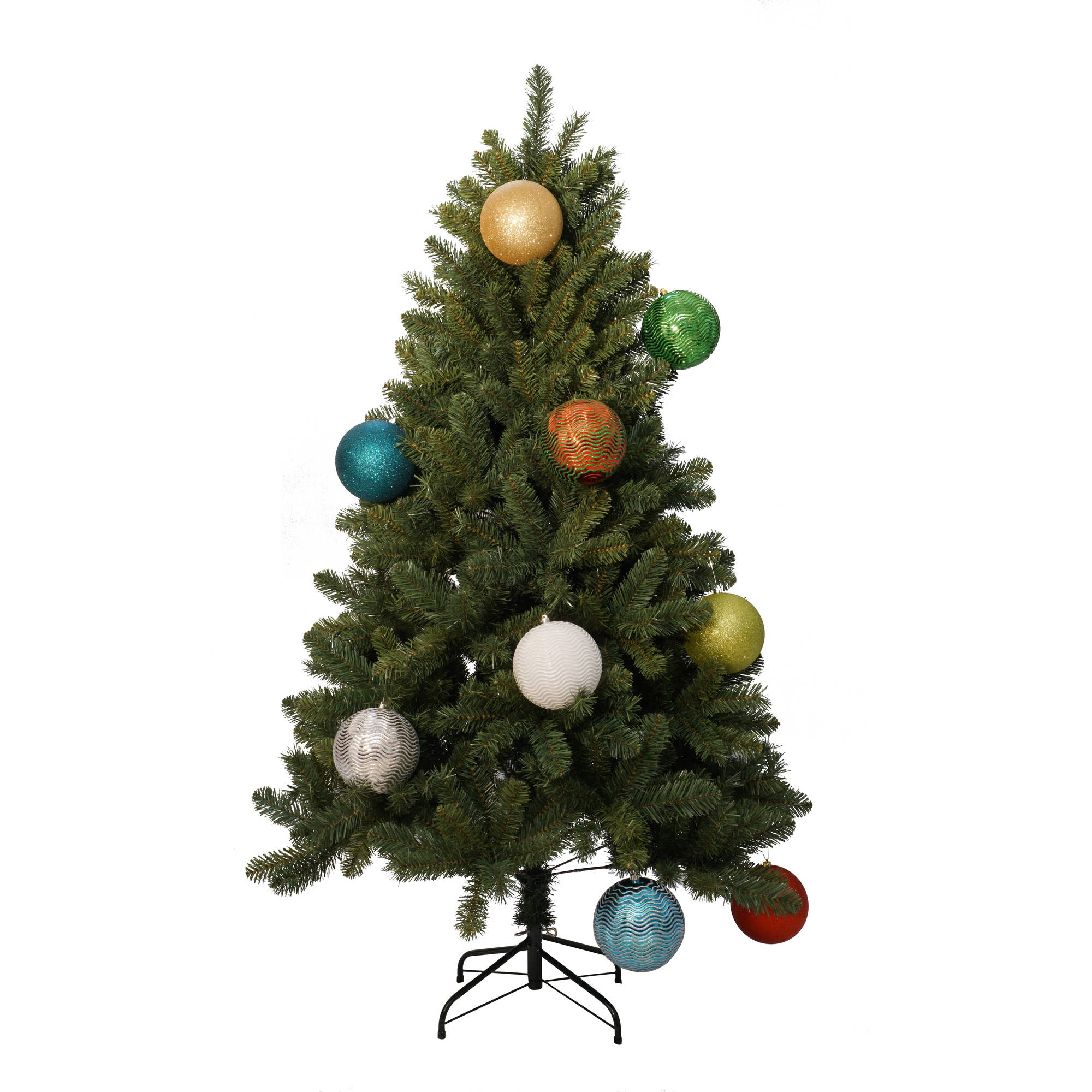 Holiday Time Christmas Ornaments Traditional 150mm Extra Large Shatterproof, Set of 3 - Walmart.com
