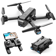 SNAPTAIN SP510 Foldable GPS FPV Drone with 2.7K Camera for Adults UHD Live Video RC Quadcopter for Beginners with GPS, Follow Me, Point of Interest, Waypoints, Long Control Range, Auto Return Black