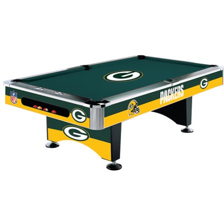 Nfl Green Bay Packers Pool Table 8 Foot With Logo Cloth