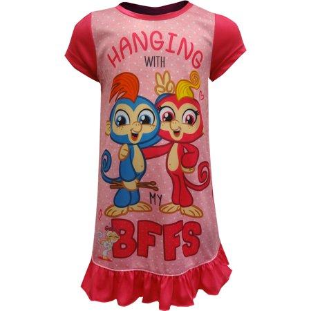 Girls' Fingerlings Pajama Nightgown
