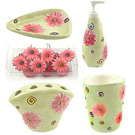 Flower Power - 16 Piece Daisies Bathroom Accessories Set