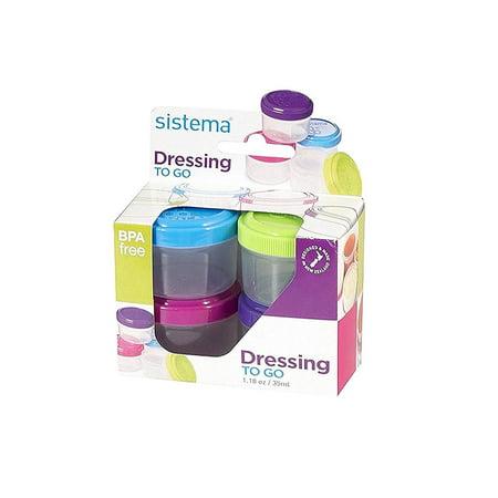 sistema salad dressing container