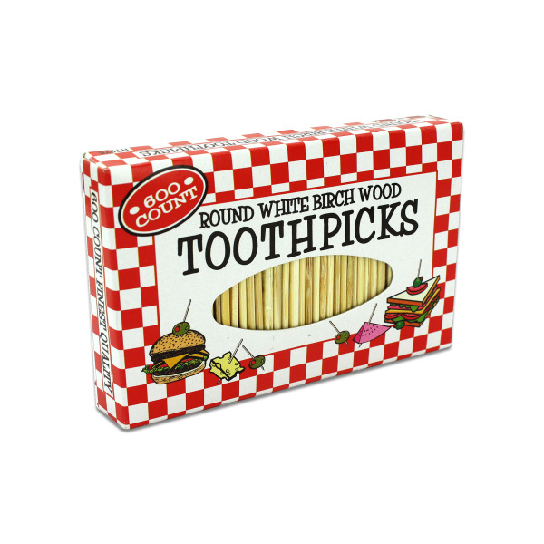 Handy Round Toothpicks (Pack Of 24)