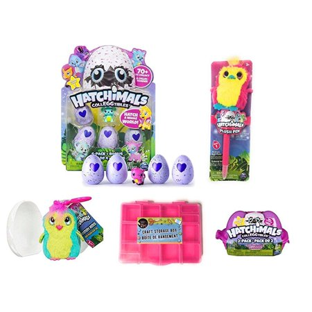 Hatchimals Ultimate Collector Bundle  Includes 4 Pack   Bonus Colleggtibles  2 Pack Glittering Gardens  1 Mystery Mini Clip  1 Plush Pen   Bonus Collectors Case  Styles Colors May Vary