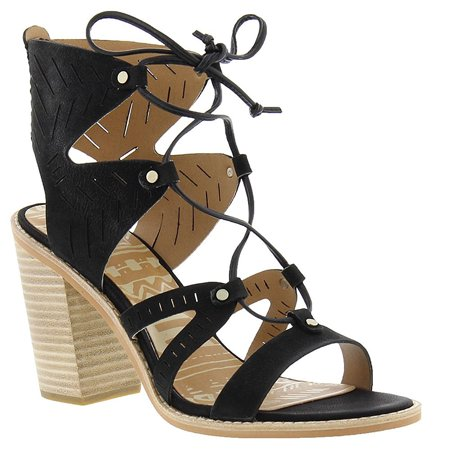 69a62b8a3452 Dolce Vita - Women s Luci Ghillie Lace Up Stacked Heel Sandals - Walmart.com