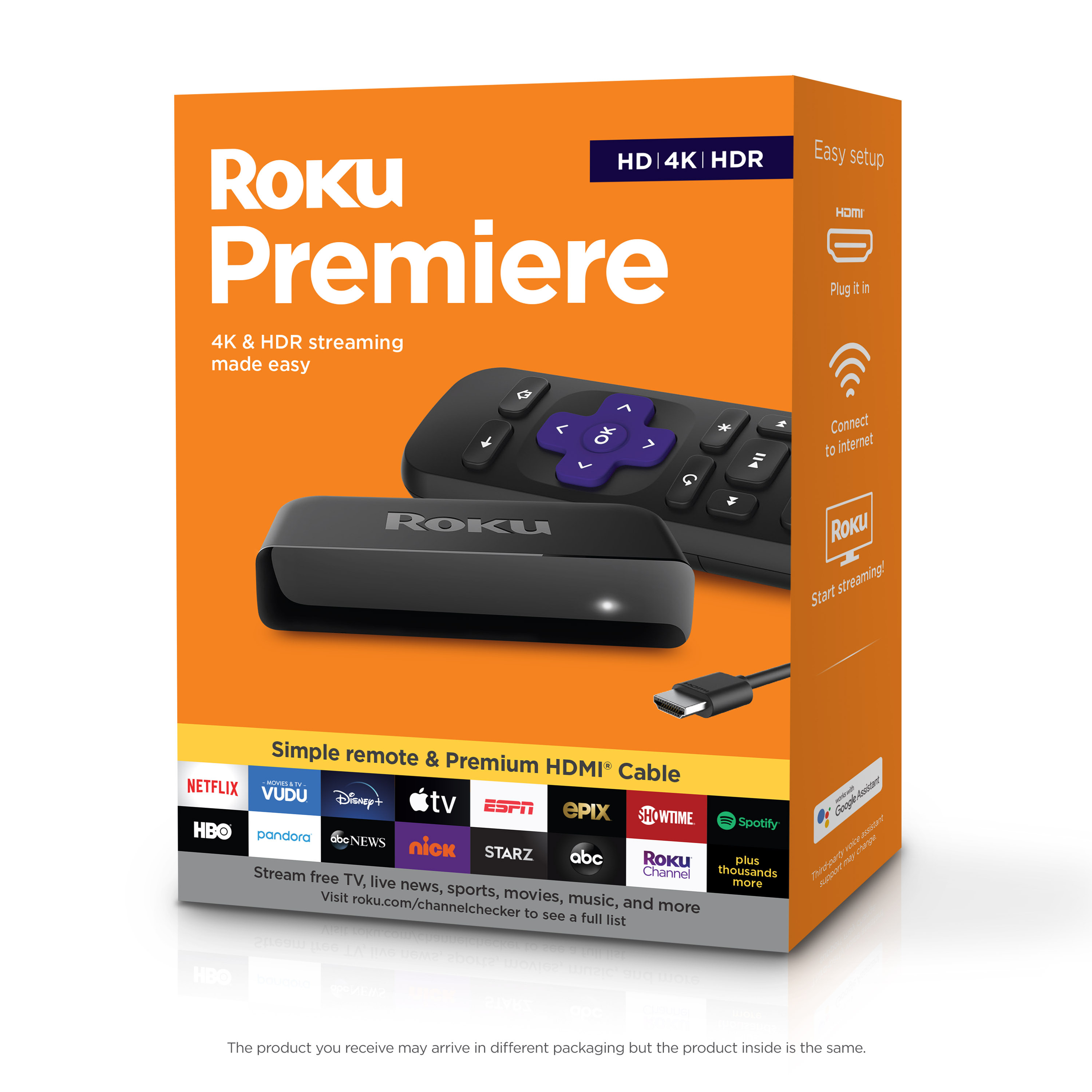 Roku Premiere HD/4K/HDR Streaming Media Player
