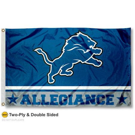 Detroit Lions Allegiance Two Sided Flag