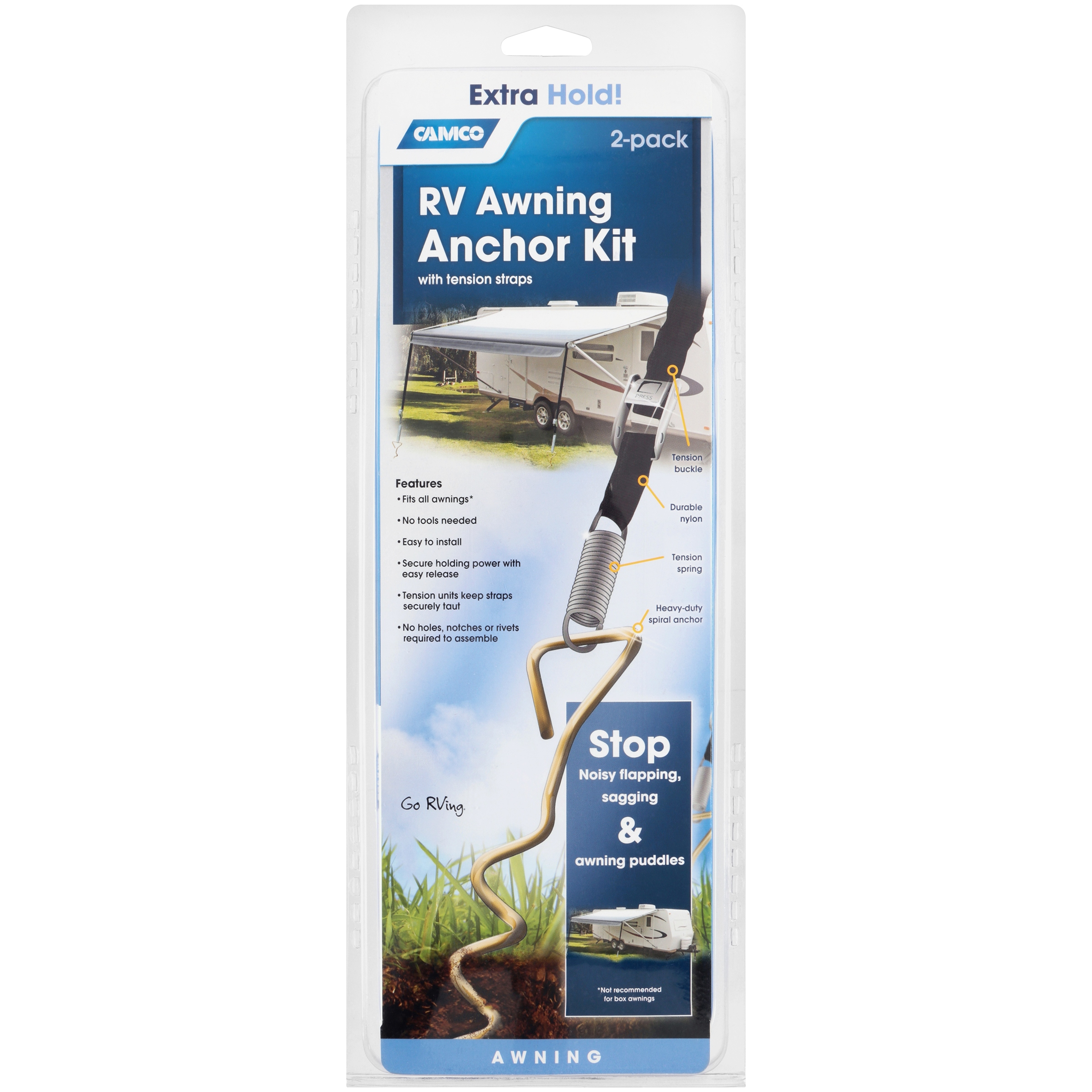 Awning Anchor Kit W Pull Tension Straps Walmart Com Walmart Com