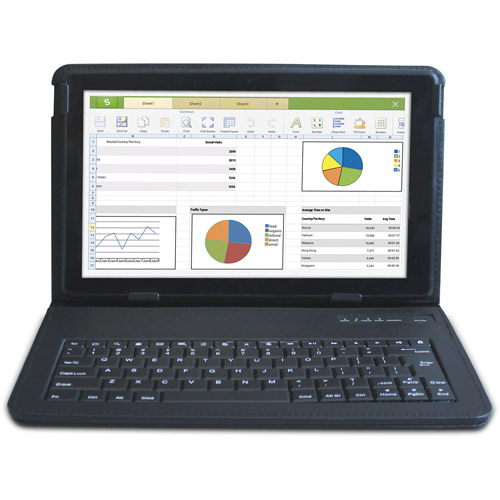 "RCA Pro 10 with WiFi 10.1"" Touchscreen Tablet PC Featuring Android 4.2.2 (Jelly Bean) Operating System with Bluetooth Keyboard"