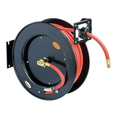 - ReelWorks L815153HA Steel Retractable Air Compressor/Water Hose Reel with 3/8