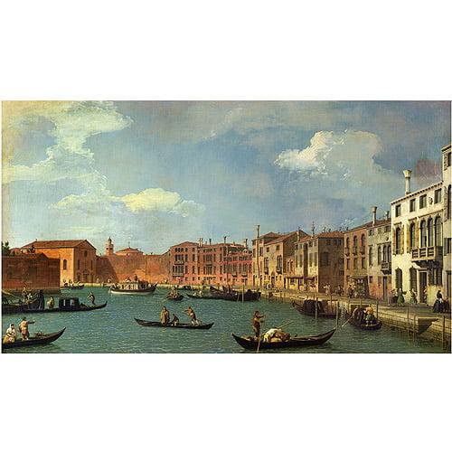 "Trademark Fine Art ""Canal of Santa Ciara Venice"" Canvas Art by Canaletto"
