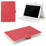 "JAVOedge Vintage Universal 7-8"" Book Case for the iPad Mini, Samsung Tab, Nexus 7, Nook HD (Red)"