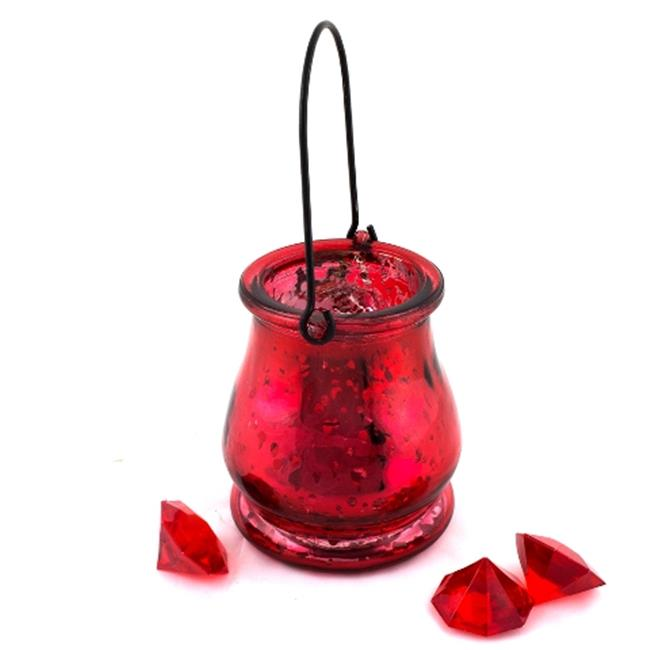 DecorFreak Large Red Pair Of Votives With Hanger