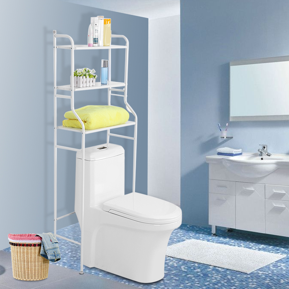 3-Tier Iron Toilet Towel Storage Rack Holder, Over Bathroom Toilet ...
