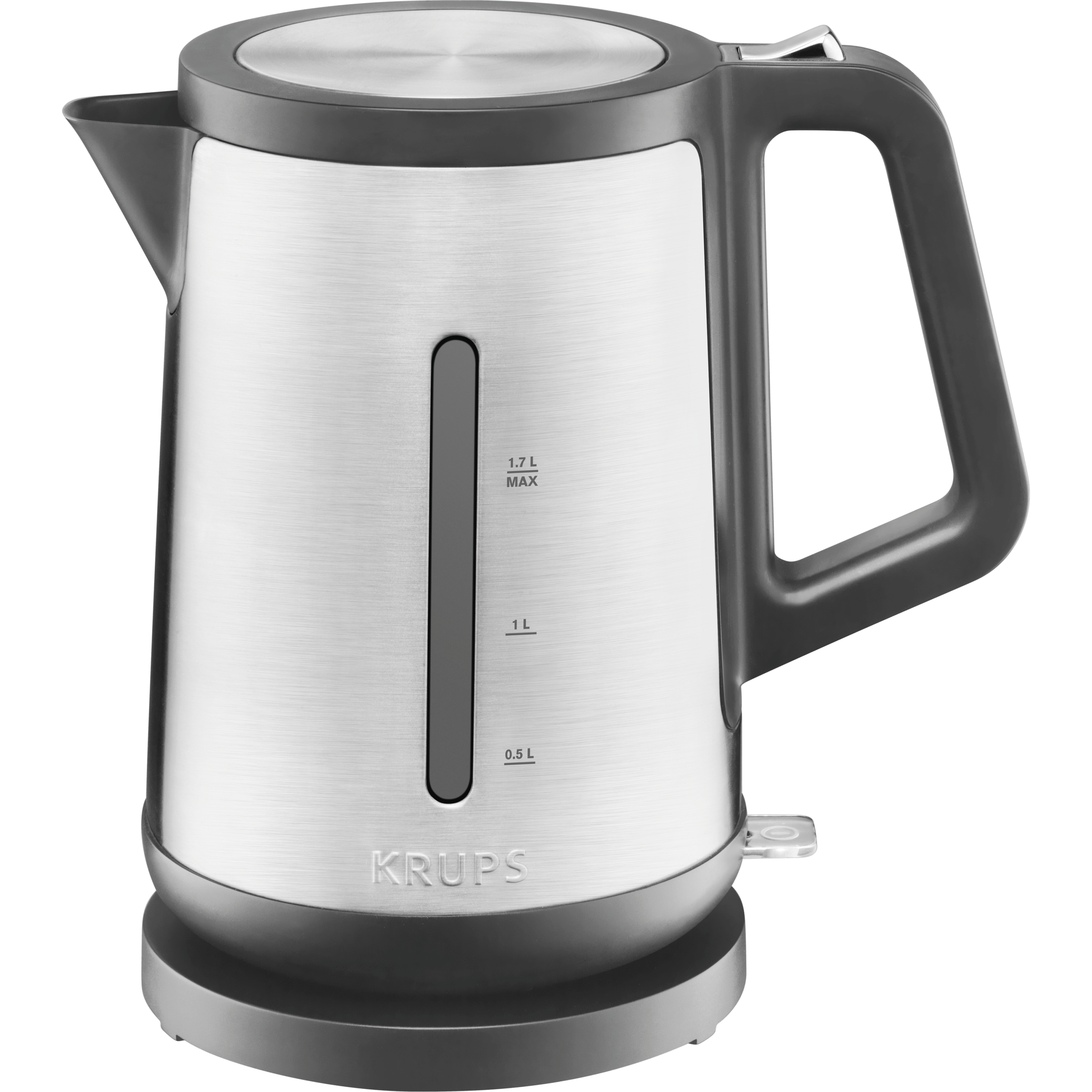 KRUPS 1.7L Electric kettle, Brushed Stainless Steel, BW442D50