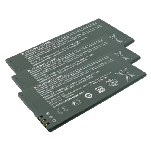 Battery for Nokia BVT3G (3-Pack) Replacement Battery