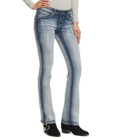 efbbc3bce4 L.e.i. - Juniors  Ashley Slim Bootcut Jeans - Walmart.com