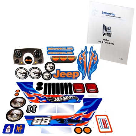 Power Wheels CBG61 Jeep Hot Wheels Decal Sheet #CBG61-0310A Use And Care Guide.