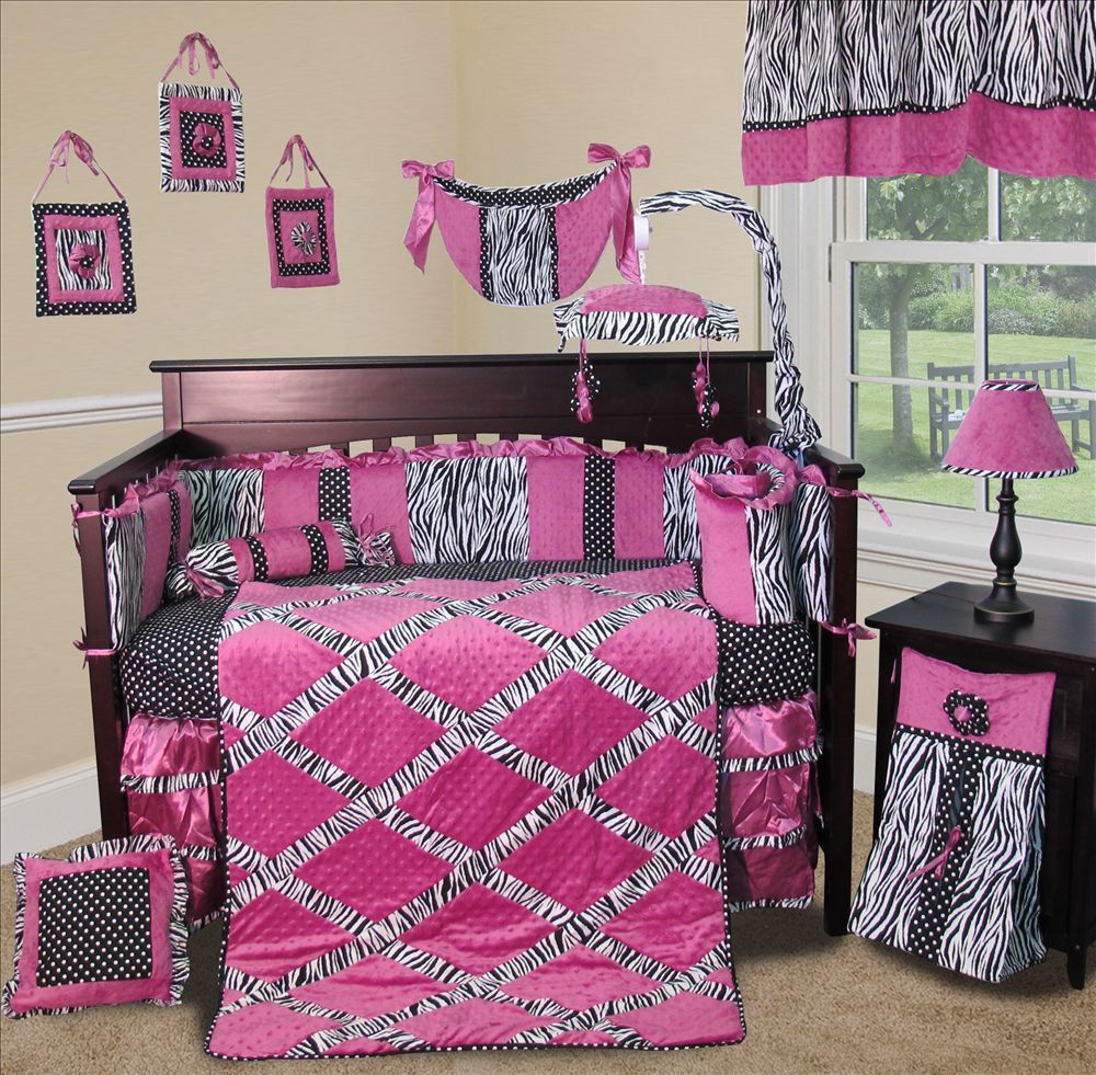 Sisi Baby Bedding - Zebra Princess Crib Nursery Bedding Set 13 Pieces