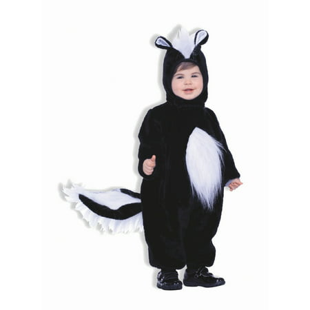 Halloween Infant/Toddler Plush Skunk Costume (Baby Skunk Halloween Costume Pattern)