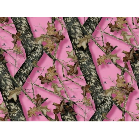 Camo Birthday Cakes (Pink MOSSY OAK BREAK UP Pink Camo Print Birthday 1/2 Size Frosting Sheet Cake Topper Edible)