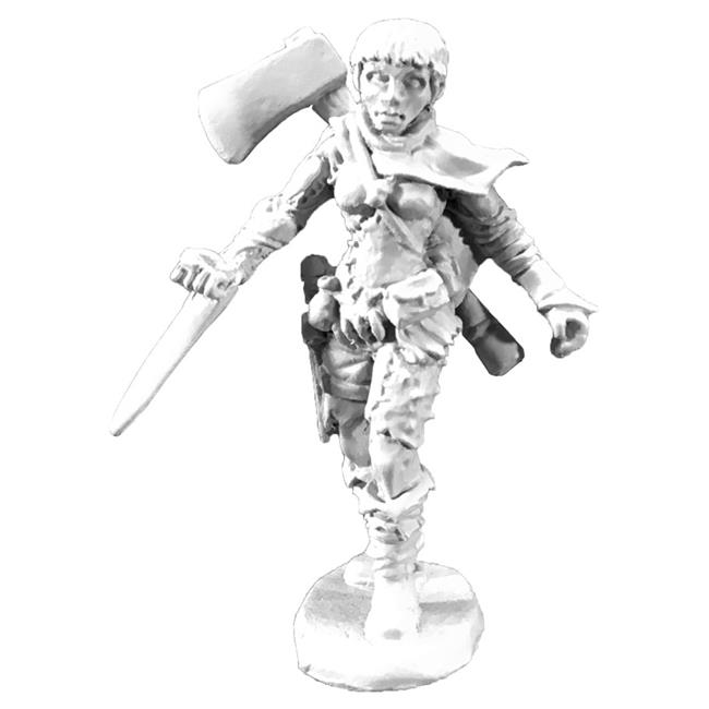 Numenera Female Glaive with Axe - image 1 of 1