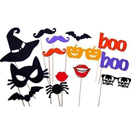 Halloween Masks, Halloween Photo Booth Props, Party Decorations,NO DIY REQUIRED, on a stick ready to be used by usa-sales By UsaSales Ship from US