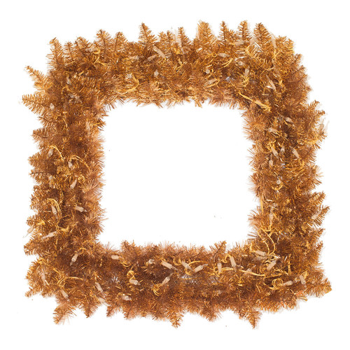 "Vickerman 327861 - 30"" Copper Fir Square  70 Clear Lights Christmas Wreath (K127284)"