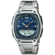 Casio Men's Stainless Steel Analog-Digital Sport Watch, Blue Dial AW81D-2AV